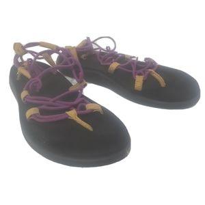 Teva voya infinity sandals summer purple size 6